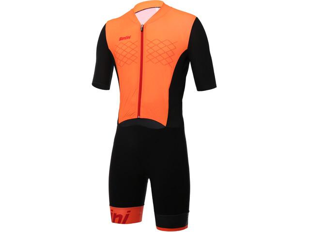 Santini Redux Triatlondragt Herrer, arancio fluo